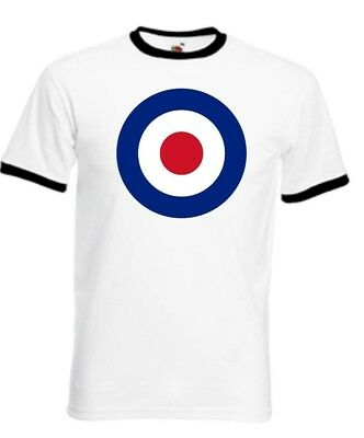 Mens Mod T Shirt Target, Classic, Retro, 60S, Scooter Rally