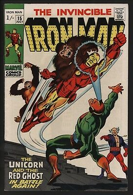 Iron Man #15 From 1969. Glossy Original Owner Copy With White Pages