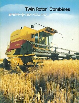 1981 Sperry New Holland Twin Rotor Combines Dealership Brochure 36 Pages CLEAN