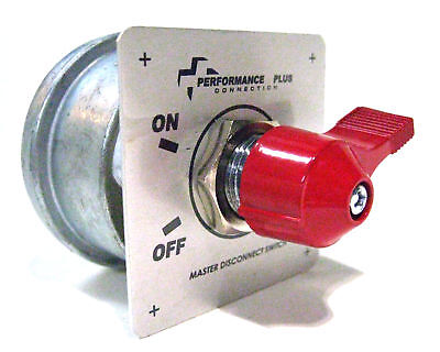 Racing Battery Switch Safety Shut Off Disconnect 2 Post Terminal w/On-Off Plate