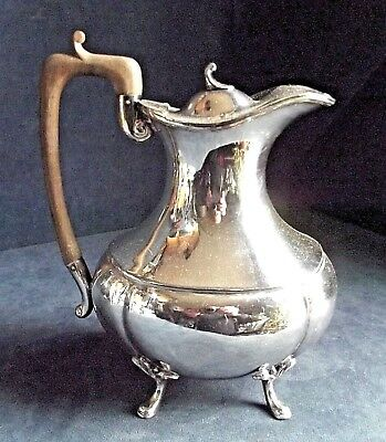 SUPERB Large ~ SILVER Plated ~ Bulbous Water / Juice JUG ~ c1920 by John Turton