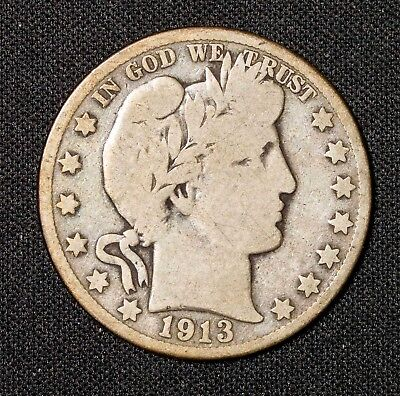 1913 S Barber Half Dollar Item#T9236