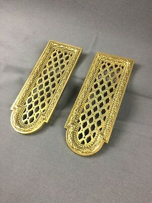 Antique Pair Of French Gilt Bronze Finger Plate Xix