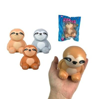 (You Pick Color) 3.5 Inch Tall Sloth Squish Stress Ball