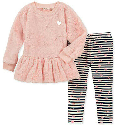 Juicy Couture Girls Pink Sweater & Legging Set Size 2T 3T 4T 4 5 6 6X 7 8/10 12