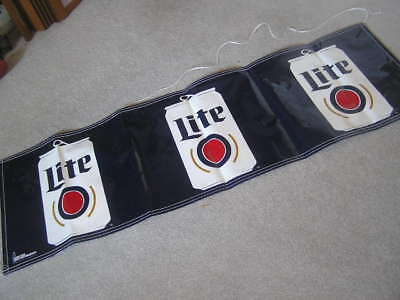 New! Nice Miller Lite Light Beer Logo Banner Sign