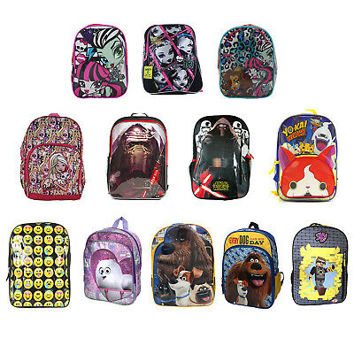 "10"", 12"" & 16"" Kids Backpack - Star Wars, Barbie, Secret Life of Pets and More"