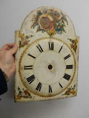 REALLY OLD GRANDFATHER wood CLOCK FACE