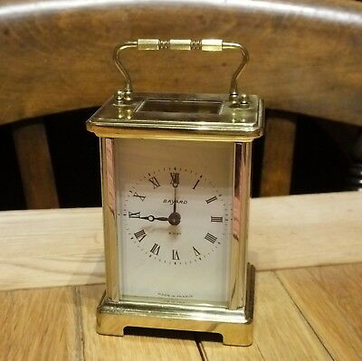 Vintage Small Brass/Chrome French ( Bayard ) Carriage Clock - Spares or Repair