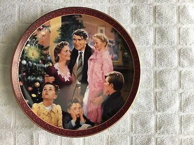 """Jimmy Stewart Collectors Plate Titled """" An Angel Gets His Wings """""""