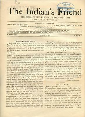 January 1933 The Indian's Friend Magazine Newspaper National Indian Association
