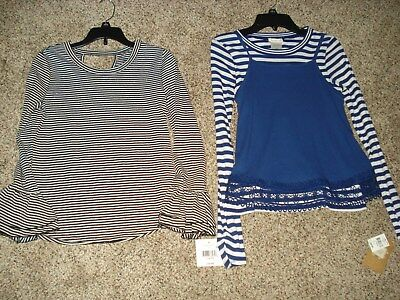 Girls Long Sleeve Tops Size M 10-12 Lot of 2 NWT
