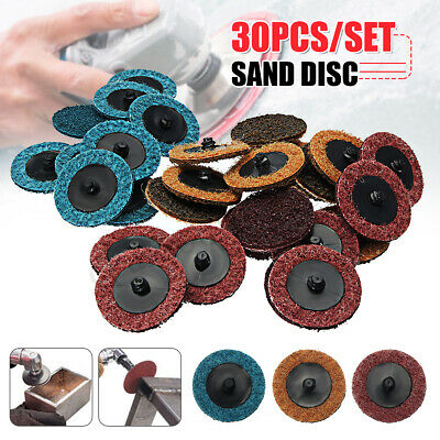 "2"" Sanding Roloc Roll Disc Surface Conditioning Fine Medium Coarse Prep Pad 30x"