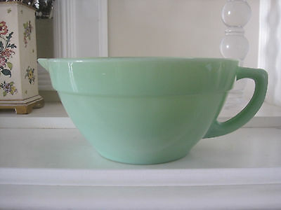 Anchor Hocking Fire King Jadeite Handled Pouring Mixing Bowl