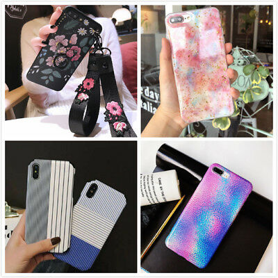 Slim Fit Cute Bling Case Retro Protective Phone Covers For iPhone XS X 8 7 Plus