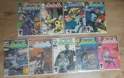 The Punisher Limited 1-5 and Unlimited Series 1-4: 1987 VF condition
