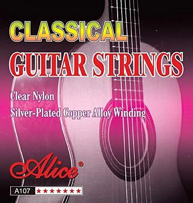 Alice Classical Guitar Strings Clear Nylon .028''-.043'' Copper Alloy Winding UK