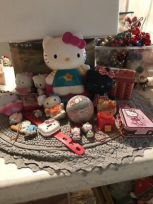 Vintage Hello Kitty Items Large Lot