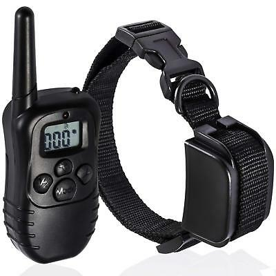 Oxgord Rechargeable Waterproof LCD 100LV Shock Remote Training Collar 330 Yd