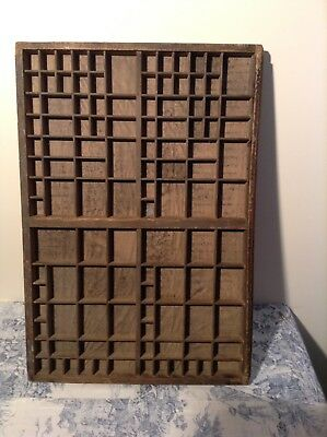 Vintage French Printers Tray Letterpress (3102)