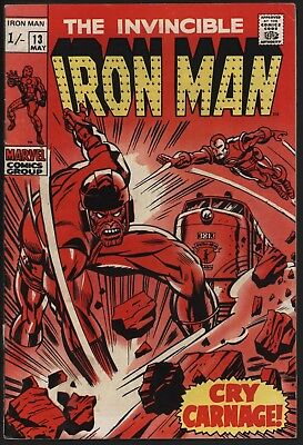 Iron Man #13 Vs The Controller Original Owner Collection Glossy With White Pages