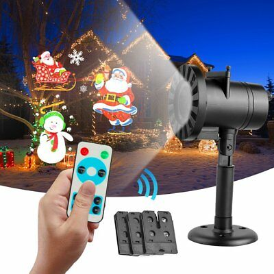 3 Pattern LED Laser Projector Moving Light Outdoor Xmas Landscape Christmas Lamp