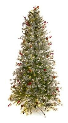Best Artificial 7.5ft / 225cm Pre Lit Frosted Deluxe Decorated Christmas Tree