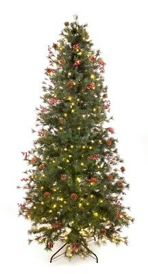 Best Artificial 7.5ft / 225cm Pre Lit Deluxe Decorated Christmas Tree Xmas Cones