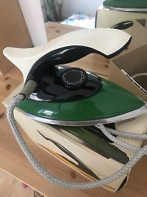 Vintage Danish Retro Green Iron. Excellent Condition In Original Box