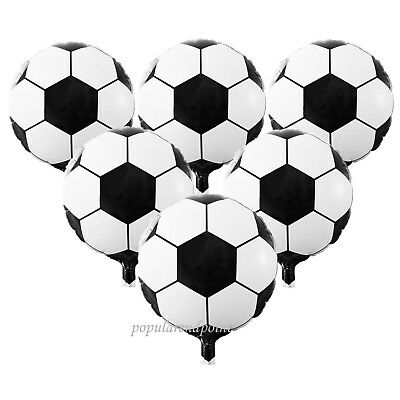 Lot of 5 ~100pc 45cm Football/Soccer Helium Foil Balloon Sport Party Decoration