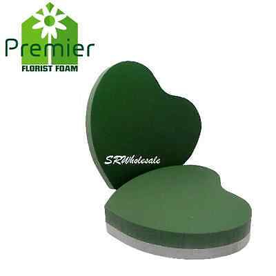 """2 x 10"""" Solid Heart Oasis 10 inch Funeral Tributes Floral Wet foam Memorial Xmas"""
