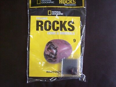 National Geographic Precious Rocks Gems & Minerals Magazine Issue 9 Rhodonite
