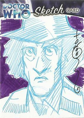 Dr Doctor Who Trilogy Sketch Card drawn by Thomas Hodges of The 4th Doctor [ B ]