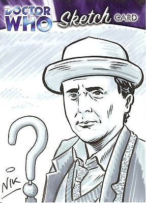 Dr Doctor Who Trilogy Sketch Card by Nick Neocleous /1 - 7th Doctor