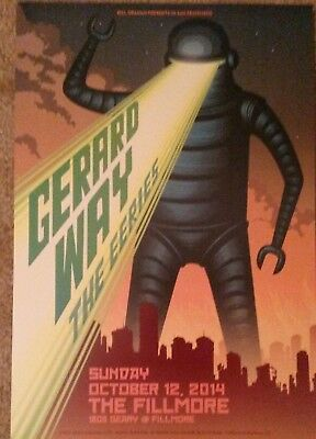 Mint GERARD WAY Fillmore Poster 2014 MY CHEMICAL ROMANCE