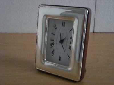SOLID STERLING SILVER TABLE ALARM CLOCK 6×9 *1017GB new