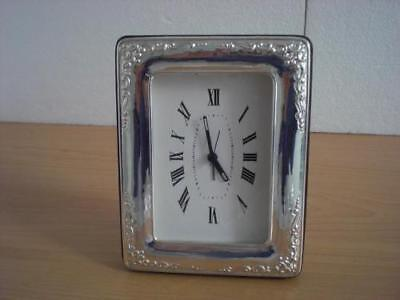 SOLID STERLING SILVER TABLE ALARM CLOCK 6×9 *1010GB new
