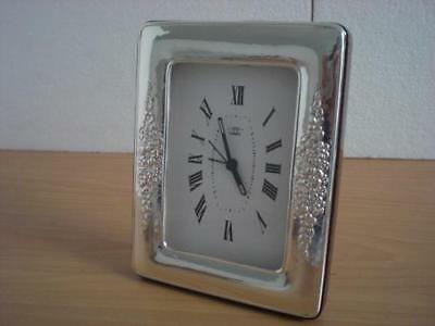 SOLID STERLING SILVER TABLE ALARM CLOCK 6×9 *1013GB new