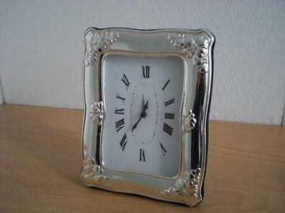SOLID STERLING SILVER TABLE ALARM CLOCK 9×13*1032GB new