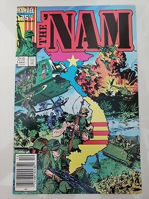 The 'nam #1 (1986) Marvel Comics Michael Golden Art! Newsstand Variant! Htf Nm
