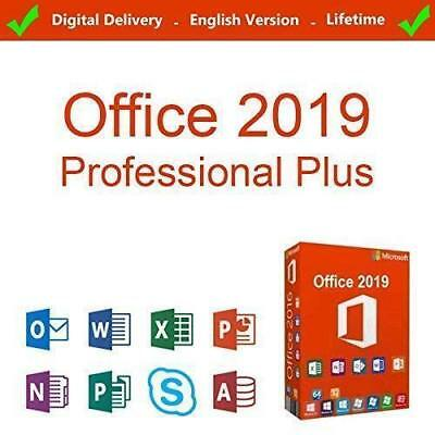 Microsoft Office 2019 Pro Professional Plus - Genuine Fast Delivery - Lifetime