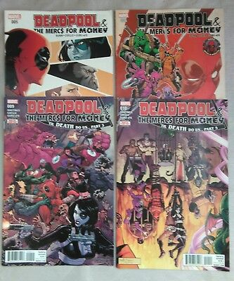 Marvel Comics Deadpool & The Mercs for Money #s 5,6,9,10.