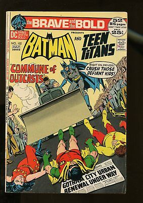 Brave And The Bold #102 Fine- 5.5 Batman / Teen Titans 1972 Dc Comics
