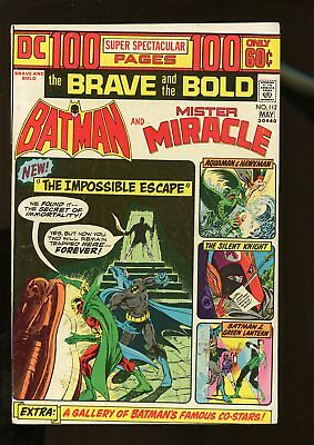 Brave And The Bold #112 Fine+ 6.5 Batman / Mister Miracle / 100 Pages 1974 Dc