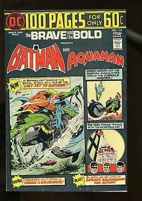Brave And The Bold #114 Very Fine 8.0 Batman / Aquaman / 100 Pages 1974 Dc