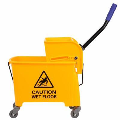 20L Commercial Wet Mop Bucket & Wringer Combo Yellow Janitorial Cleaning Tools