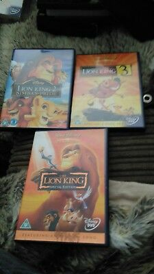 The Lion King Trilogy box set collection Disney action adventure thriller family