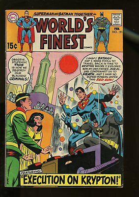 World's Finest Comics #191 Very Good 4.0 1970 Dc Comics