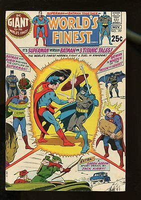 World's Finest Comics #197 Fine- 6.5 Giant-Size 1970 Dc Comics