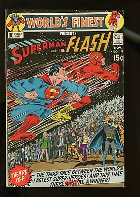 World's Finest Comics #198 Very Good+ 4.5 Superman / Flash Race 1970 Dc Comics